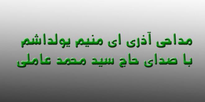 مداحی آذری ای منیم یولداشم با صدای حاج سید محمد عاملی